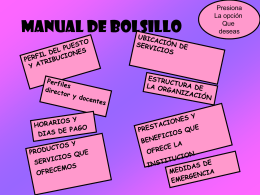 MANUAL DE BOLSILLO - Colegio CED