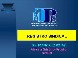 SINDICATOS - Ministerio de Trabajo