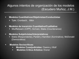 Modelos en evaluación de programas ppt