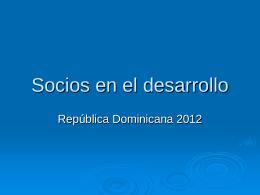 Socios en el desarrollo