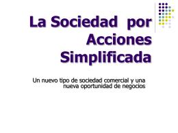 La Sociedad por Acciones Simplificada