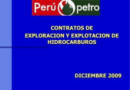 Perupetro - Contratos de exploración y explotación en hidrocarburos