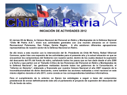 INICIO DE ACTIVIDADES CMP. 2012