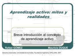 Aprendizaje activo - Facultad de Ingeniería