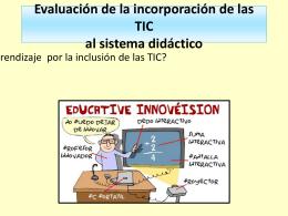 El sistema didáctico y las dinámicas de mediación con TIC