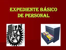 expediente basico de personal - C.I.C.