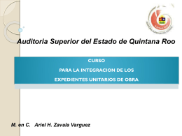 Integración de Expedientes - Auditoría Superior del Estado de