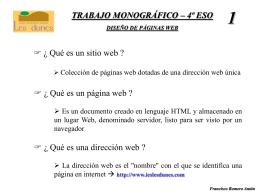 trabajo monográfico – 4º eso diseño de páginas web 1