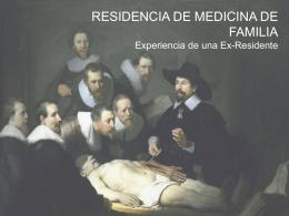 Residencia de medicina de Familia