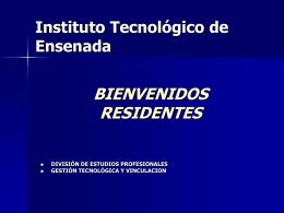 Información acerca de las Residencias Profesionales.