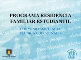 PROGRAMA RESIDENCIA FAMILIAR ESTUDIANTIL