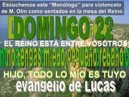 Lectura Domingo XXII - Calvariomarbella.com
