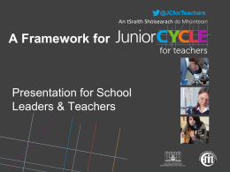 JCforTeachers - Junior Cycle Home