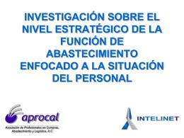 INVESTIGACIÓN SOBRE EL NIVEL ESTRATÉGICO DE