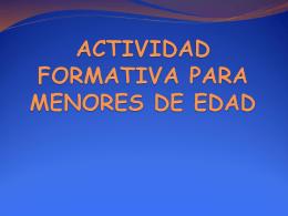 TRABAJO PARA MENORES DE EDAD