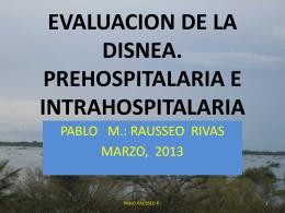 evaluacion de la disnea. prehospitalaria e intrahospitalaria