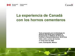 La experiencia de canadá en los hornos cementeros