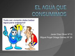 """Presentación """" EL AGUA QUE CONSUMIMOS """""""