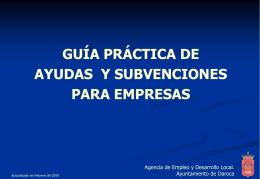 Ayudas y subvenciones disponibles para empresas relacionadas con