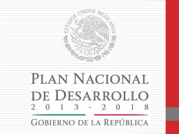 Plan Nacional de Desarrollo México 2013-2018