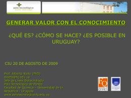 Presentación Dr. Alberto Nieto - Cámara de Industrias del Uruguay