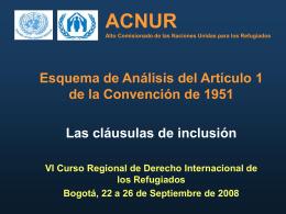 ACNUR Alto Comisionado de las Naciones Unidas para los