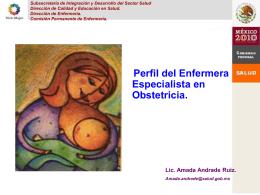 5. Perfil de la Enfermera Especialista en Obstetricia. Amada