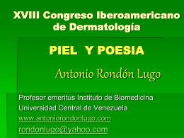 piel y poesia - Antonio Rondón Lugo