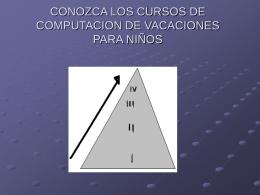 CONOZCA LOS CURSOS DE COMPUTACION DE
