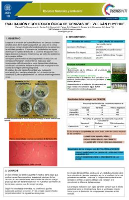 Evaluación Ecotoxicológica de Cenizas del Volcán Puyehue