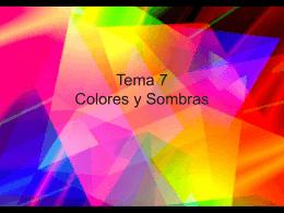 Tema 7 Colores y Sombras