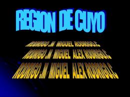 REGIÓN DE CUYO - distritoescolar21