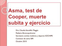 Asma, test de Cooper, muerte subita y ejercicio