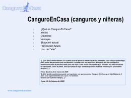 ¿Qué es CanguroEnCasa?