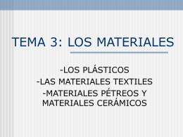Los materiales plásticos - I.E.S. Tiempos Modernos