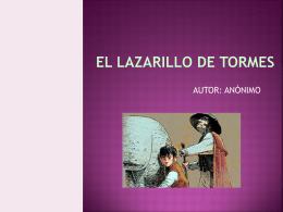 EL LAZARILLO DE TORMES - Mi blog de Lengua y Literatura