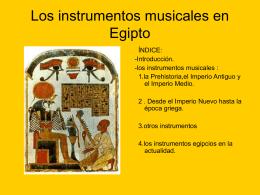 los instrumentos egipcios en la actualidad