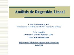 Regresion Lineal - Investigadores CIDE