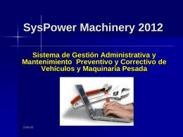 GyM - CEQ - Mantenimiento Preventivo y Correctivo de Maquinaria