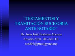 Testamentos - Dirección General de Registros Públicos de la