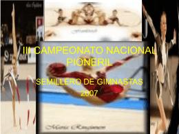 I CAMPEONATO NACIONAL PIONERIL