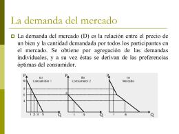 La demanda del mercado - centro de prueba para curso de página