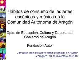 Diapositiva 1 - Gobierno de Aragón