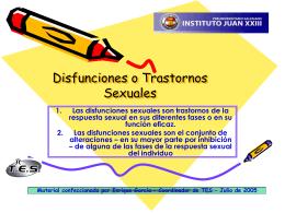 Disfunciones o Trastornos Sexuales