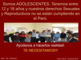 ADOLESCENTES y Derechos Sexuales y Reproductivos
