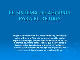 Sistema de Ahorro para el Retiro Curso CONDUSEF