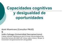 Desigualdad de Oportunidades: aplicaciones al caso de México.
