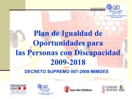 Plan de Igualdad de Oportunidades para las Personas con