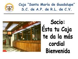 """Caja """"Santa María de Guadalupe"""" Sociedad de Ahorro y Préstamo"""