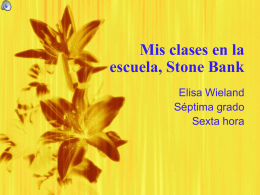 Mis clases en la escuela, Stone Bank